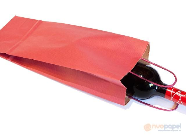 Bolsas papel con asas para botellas