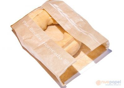 Bolsa papel marrón con ventana